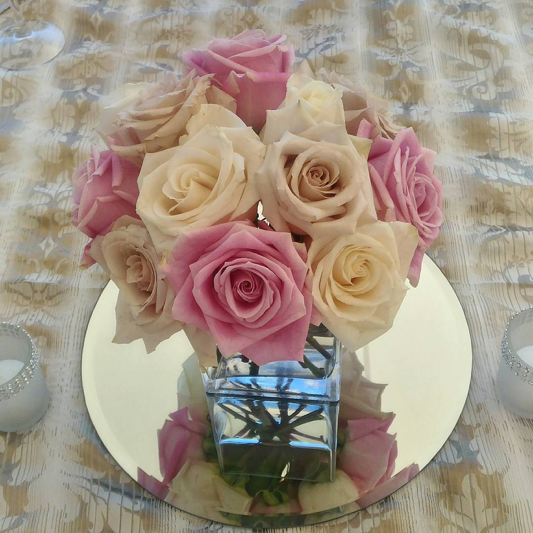 Centro de mesa de la boda de Leigh