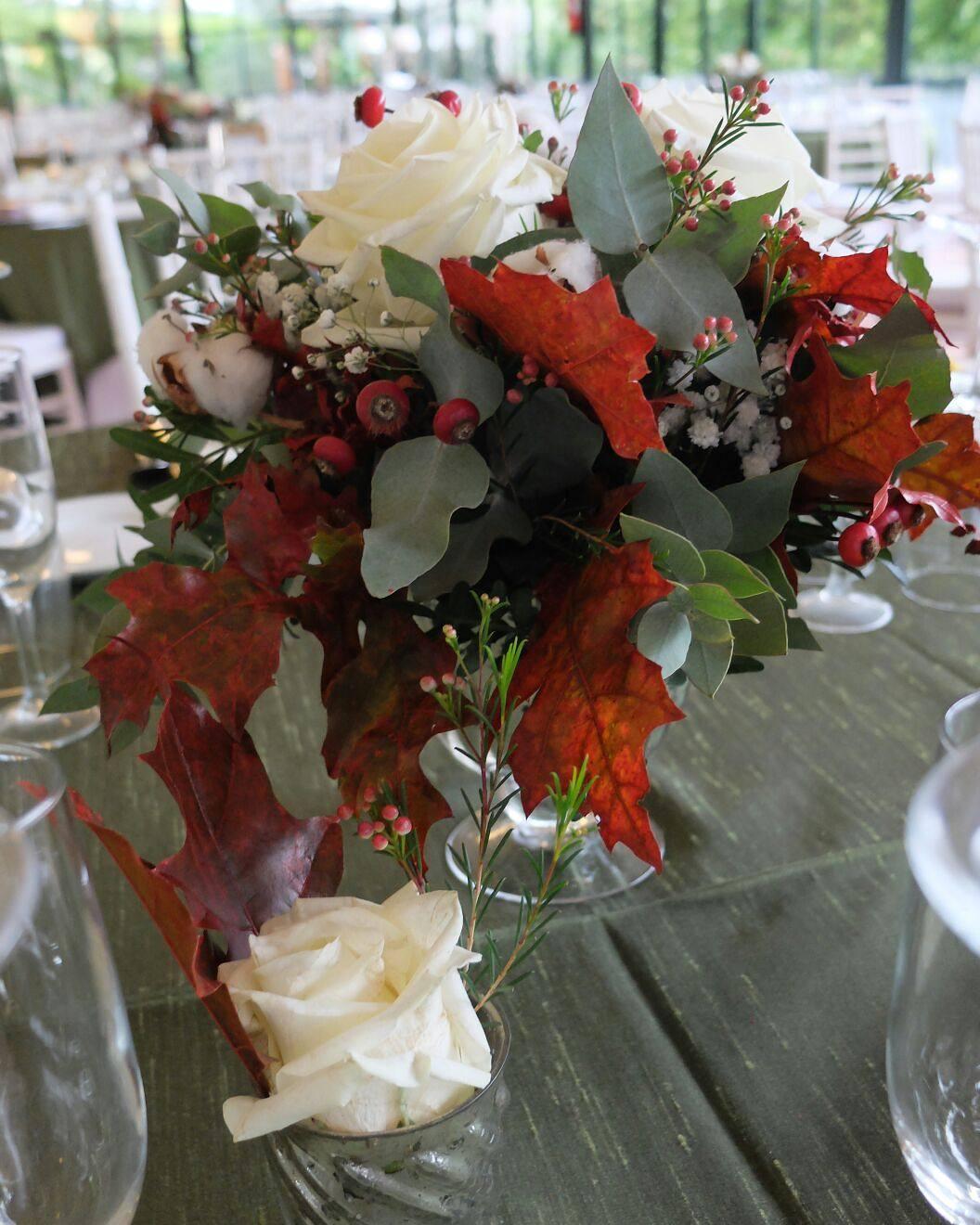 Centro de mesa de la boda de Vicente y Carmen