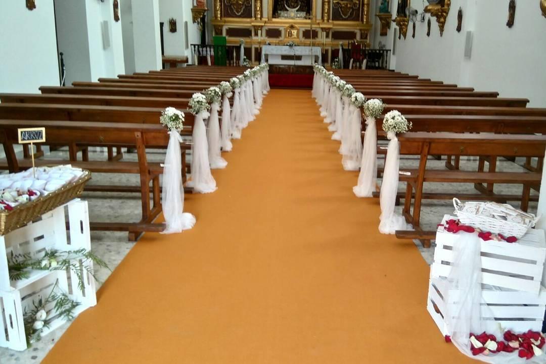 Decoración iglesia boda Noelia y José Carlos