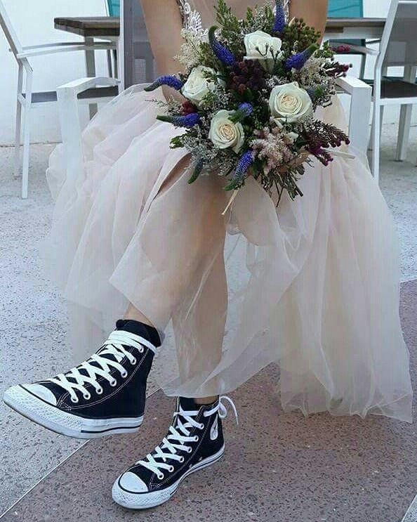 Ana, su ramo y sus zapatillas ;-)