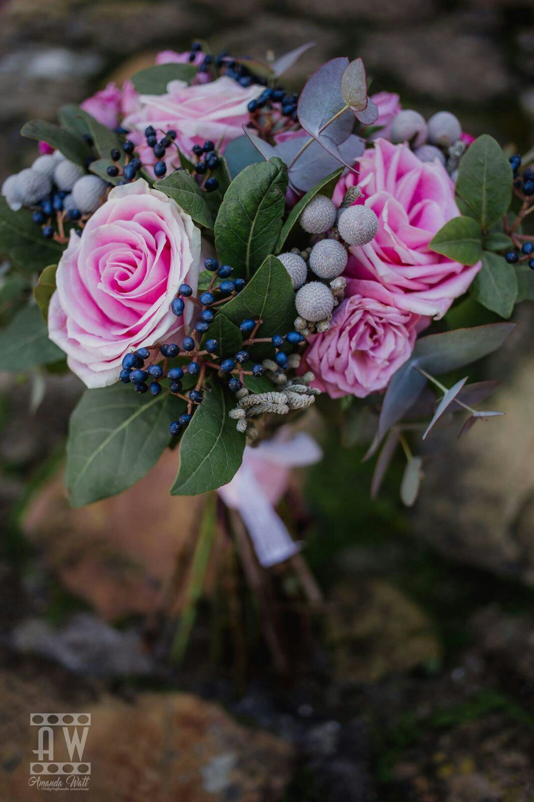 ramo de novia de rosas